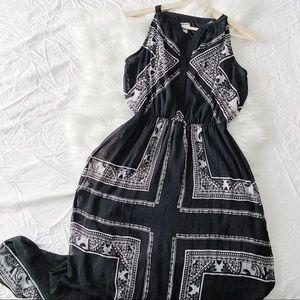Black & White Bandanna Maxi Dress
